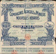 TOP DECO =>Compagnie Agricole & Minières des NOUVELLES HÉBRIDES (N)