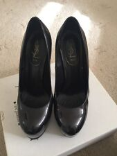 Authentic Designer YSL Tribute Shoes, Charcoal, Size 5.5 (38.5)