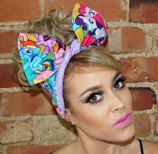 My Little Pony Festival Pinup Rockabilly Wide Reversible Wired Headband Headwrap