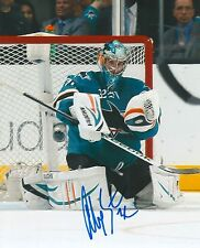 ALEX STALOCK signed SAN JOSE SHARKS 8X10 photo w/ COA
