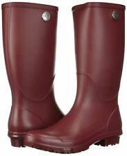 UGG Shelby Matte Rain Boots Women Size 6 Garnet Red NEW