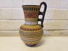"""Greek Geometrical Vase 6"""" Handmade Hand Painted Museum Copy"""