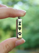 Cremation Jewelry Pendant Urn for Ashes Dog Bone Heart Paw Print US SELLER USA