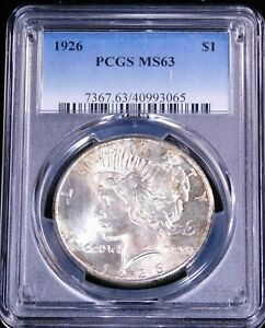 1926 Peace Silver Dollar PCGS MS63 Original White with Nice Luster #GC509