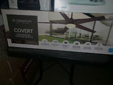 Covert 64-in Aged Bronze Finish LED Indoor/Outdoor Ceiling Fan Light Kit Remote