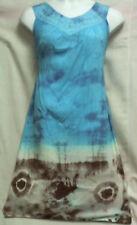 New Women's Long Sundress Sun dress Summer Maxi A-line Turquoise Brown Free Size