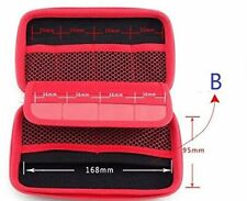 Electronic Organizer Travel Universal USB Cable Organizer Bag Case. RED