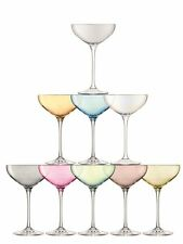 LSA International Tower Champagne Glasses Set Assorted Colours Set of 10
