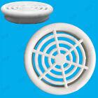 100x White Vivarium Reptile Push Fit Round 48mm Air Vents, 44mm Hole,Ventilation