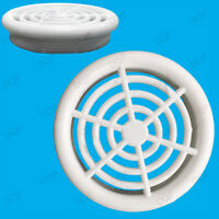6x White Vivarium Reptile Push Fit Round 48mm Air Vents, 44mm Hole, Ventilation