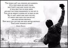 """Rocky Balboa Quote Mini Poster 13""""x19"""""""