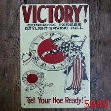 Metal Tin Sign victory!get your hoe ready Bar Pub Vintage Retro Poster Cafe ART