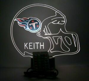 Tennessee Titans Night Light Up Football LED Sports Fan Lamp - Personalized FREE