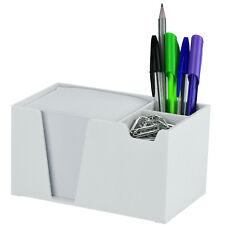 Acrimet Desk Organizer Pencil Paper Clip Holder White Color With Paper