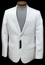 Men's PERRY ELLIS White Linen Cotton Jacket Blazer 44 REG 44R NWT NEW CORE WoW!