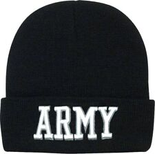 Black Deluxe Acrylic Embroidered US Army Watch Cap