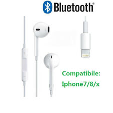 AURICOLARI BLUETOOTH IPHONE X 7 8 MAXEXCELL CON CONNETTORE LIGHTNING BLUETOOTH