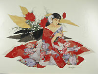 """""""The Red Swan"""" by Caroline Young Hand Signed Silkscreen Poster 24""""x32"""""""