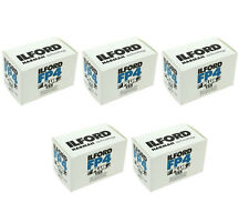 5 Rolls Ilford FP4 Plus 135-24 Exposure Black & White 35mm Print Film, 1700