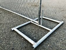STAND / BASE FOR TEMPORARY CHAIN LINK  FENCE PANEL- GALVANIZED STEEL