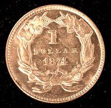 1874 Type III One Dollar $1 Gold Coin Brilliant Uncirculated BU