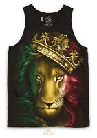 OGABEL OG ABEL CLOTHING FIERCE RASTA LION KING HEARTS INK TATTOO BLACK TANK