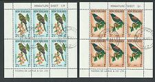 NEW ZEALAND 1962 PAIR OF HEALTH MINIATURE SHEETS BIRDS VERY FINE USED