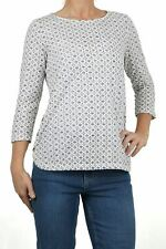 New from Fat Face Pretty Tulip Daisy Geo Blue Casual Top RRP £35 Now £17.50!