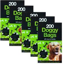 1000  DOGGY BAGS Scented Pet Pooper Scooper Bag Dog Cat Poo Waste Toilet Poop