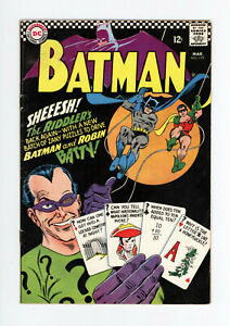 BATMAN #179 VG/FN - CLASSIC RIDDLER COVER, 2nd Silver Age Appearance - 1966