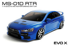 MST MS-01D RTR 1/10 Scale 4WD Electric RC Drift Car (2.4G)w/carbody- EVO X(Blue)