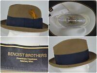 Vtg Knox N.Y. Cornhill Carlton House Dress Hat Stingy Brim Fedora 6 3/4 Mad Men