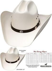 Western Express Men'S Classic Cattleman Off White Straw Cowboy Hat
