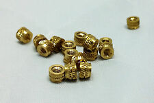 #6 32 6-32 6 Brass Threaded Heat Set Inserts for 3D Printing Screws Metal Qty 50