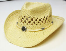Children  Kid Boys Girls Western Cowboy Straw Hat Wide Brim with  String