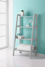 Stylish Ladder Shelf Crisp Grey Finish Great Interior Choice For Your Home