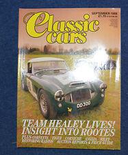 Classic Cars September 1988 1962 Corvette, Sunbeam Tiger, Ford Anglia, Bentley