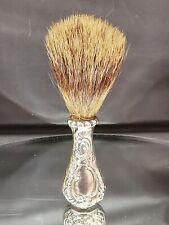 Sterling Silver Shaving / Powder Badger Hair Brush P955_12
