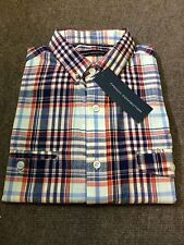French Connection Short Sleeve Check Shirt/Ayres Red - Medium