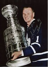 JOHNNY BOWER HAND SIGNED 5x7 COLOR PHOTO+COA     MAPLE LEAFS STANLEY CUP  TO BOB