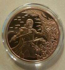 "1 oz .999 Copper "" the Crucible "" Roman Warrior king Leonidas silver shield CU"
