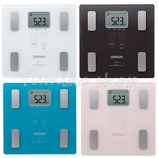Digital bathroom scale Body Weight Omron Thin Flat Design 4 colors F/S from jp