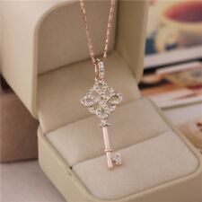 Rose Gold 9K KEY TO HER HEART Necklace