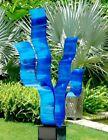 Large ELECTRIC BLUE ModernMetal Garden Sculpture Indoor Outdoor Art Jon Allen