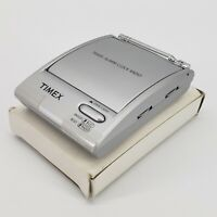 Timex Alarm Clock AM FM Radio Flip Top Travel Portable LED Model T315S