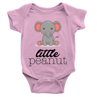 Little Peanut Babygrow Cute New Baby Elephant Animals Present Gift