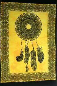 Tapestries New Yellow Dream Catcher Bedroom Decor Poster Wall Hanging Hippie