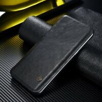 For Samsung Galaxy Note 10+ S10 S9 Genuine G-CASE Leather Wallet Flip Case Cover
