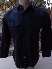 ENGLISH LAUNDRY Medium Dress Casual Flip Cuff Shirt Jacquard Paisley Black