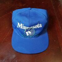 VTG Minnesota Timberwolves Snapback Hat Cap Blue Green Throwback Retro Script